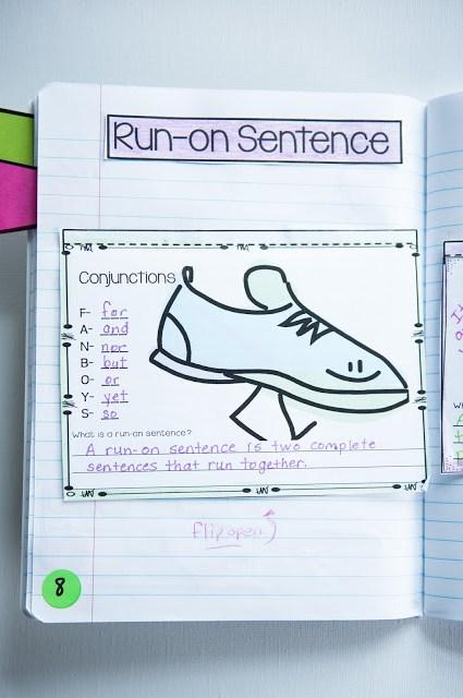 note taking for run-on sentences