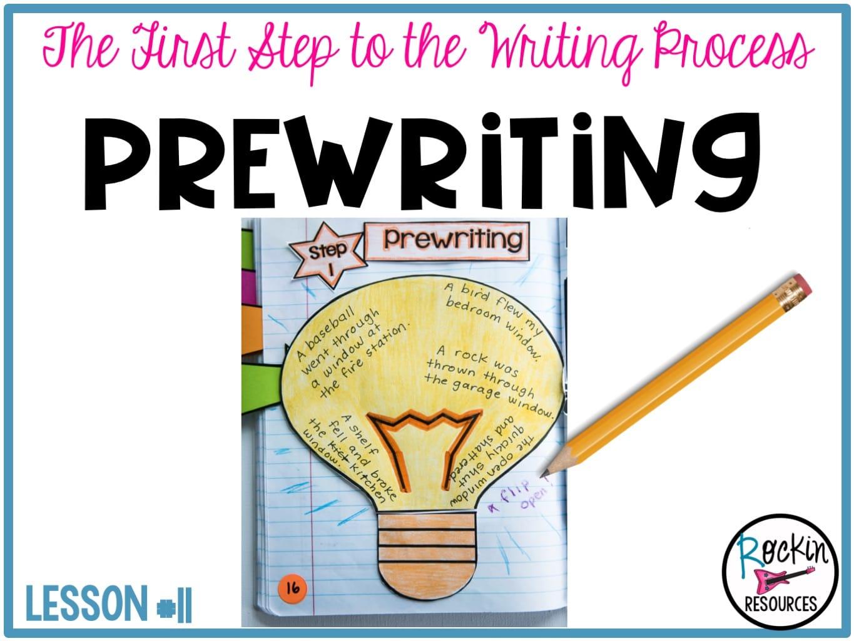 Writing Mini Lesson #11- Prewriting for Narrative Essay | Rockin Resources