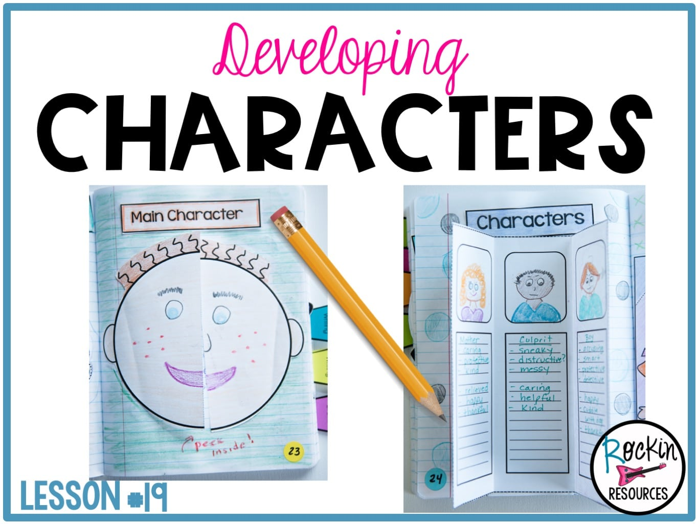 Writing Mini Lesson #19- Developing Characters in a Narrative Essay    Rockin Resources [ 1024 x 1365 Pixel ]
