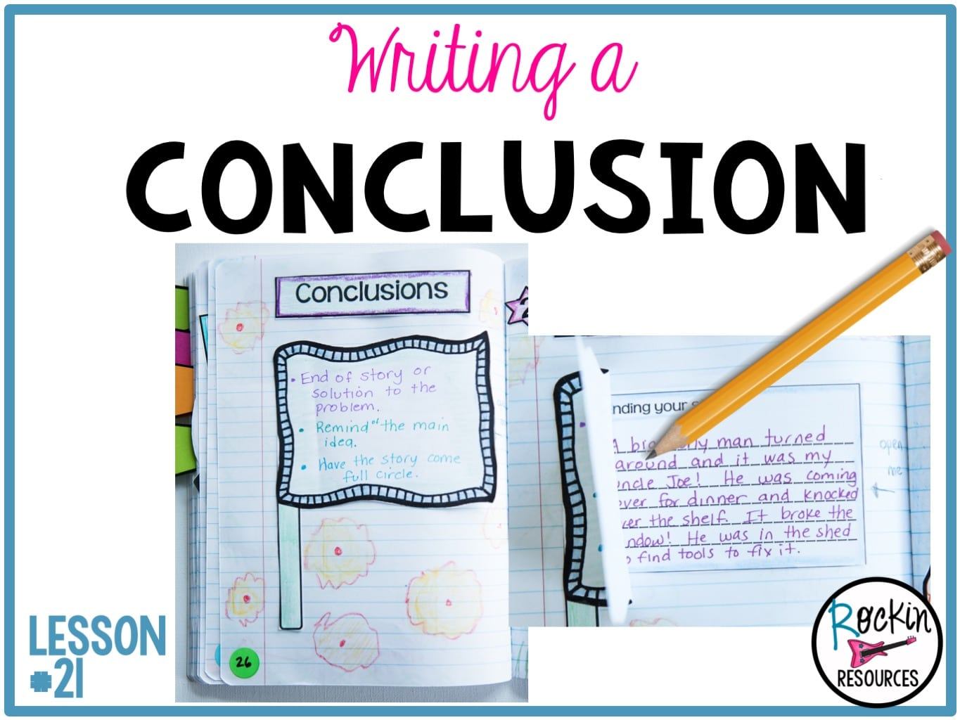 Writing Mini Lesson #21- Writing the Conclusion of a Narrative Essay    Rockin Resources [ 1024 x 1365 Pixel ]