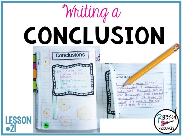 writing mini lesson writing the conclusion of a narrative  common core standard we can provide a conclusion that follows from the narrated experiences or events