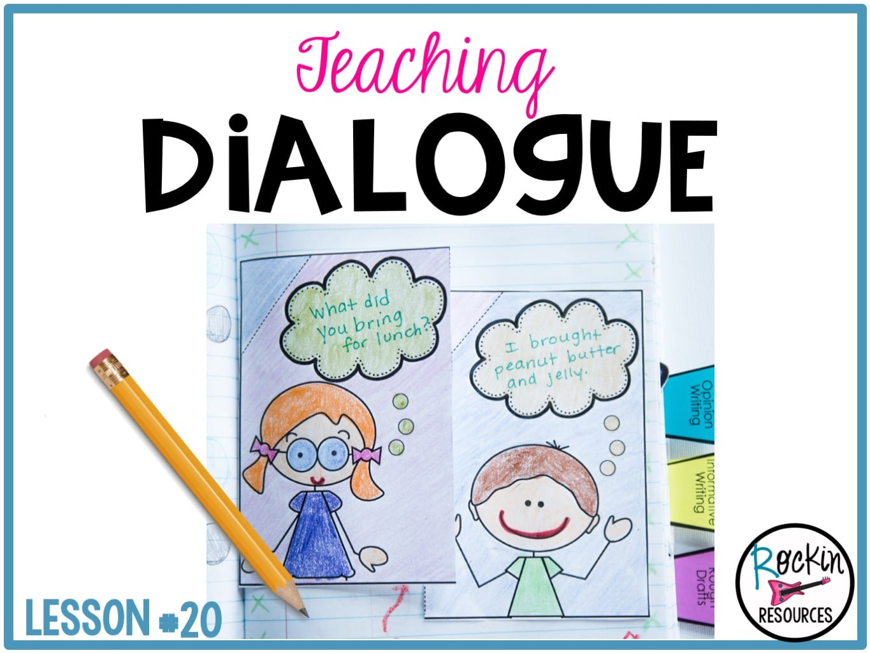 Writing Mini Lesson #20- Dialogue in a Narrative Essay   Rockin Resources [ 1024 x 1365 Pixel ]