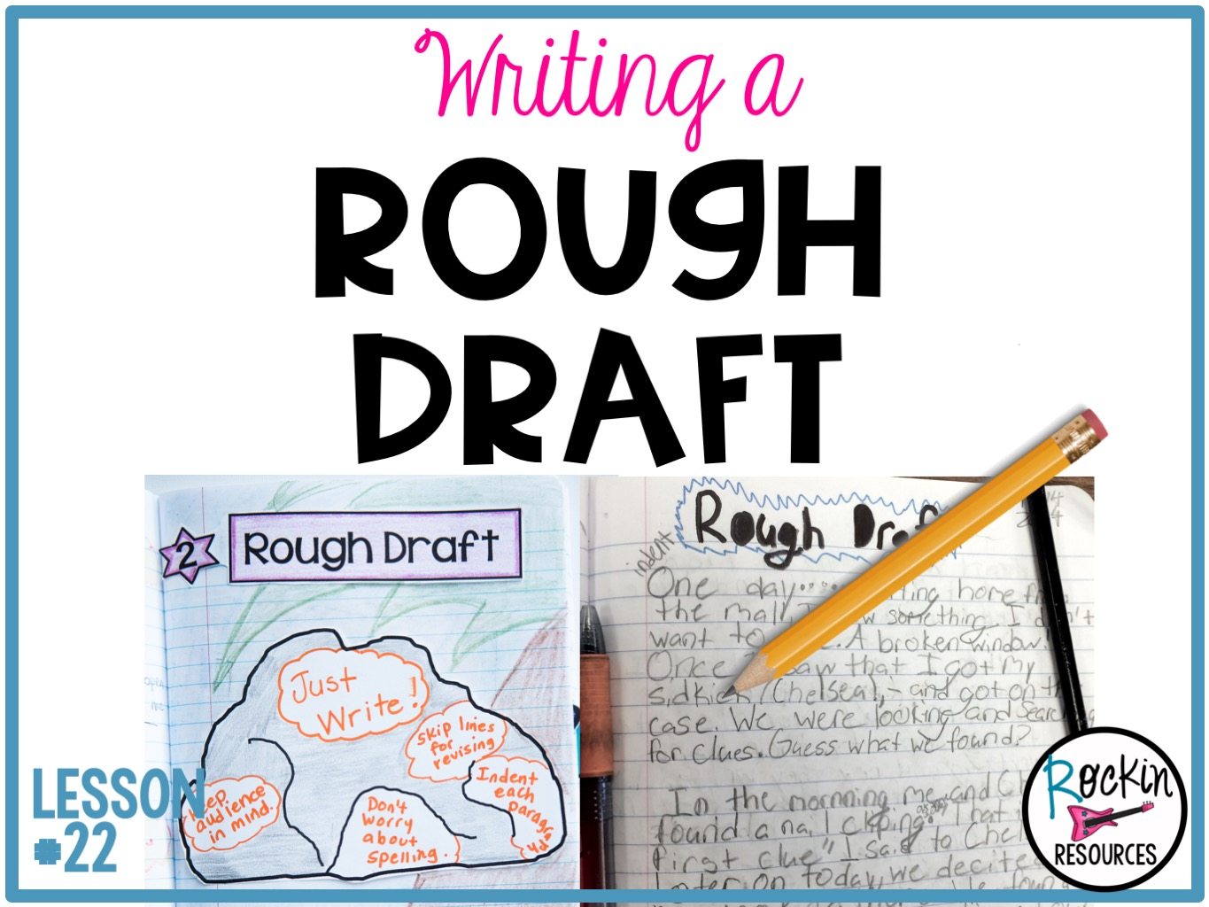 Writing Mini Lesson #22- Writing a Rough Draft for a Narrative Essay    Rockin Resources [ 1024 x 1365 Pixel ]