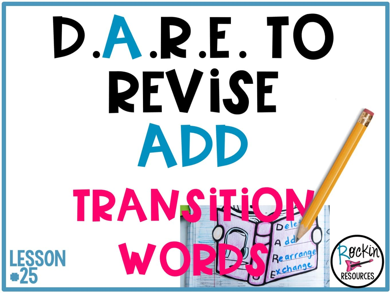 Writing Mini Lesson #25- Revising a Narrative Essay- Add- Transition Words    Rockin Resources [ 1024 x 1365 Pixel ]