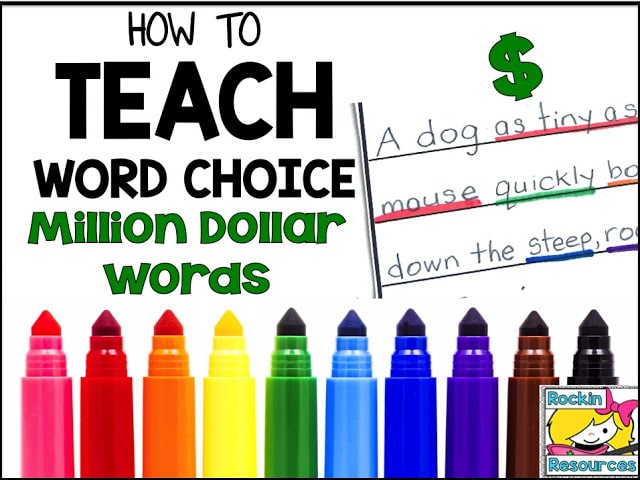 million dollar word color-coding