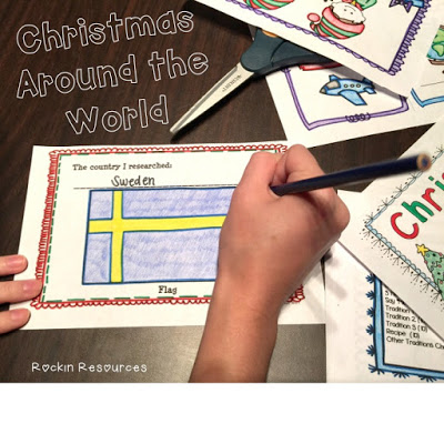 Christmas Around the world activities, booklet, doll pattern, list of countries