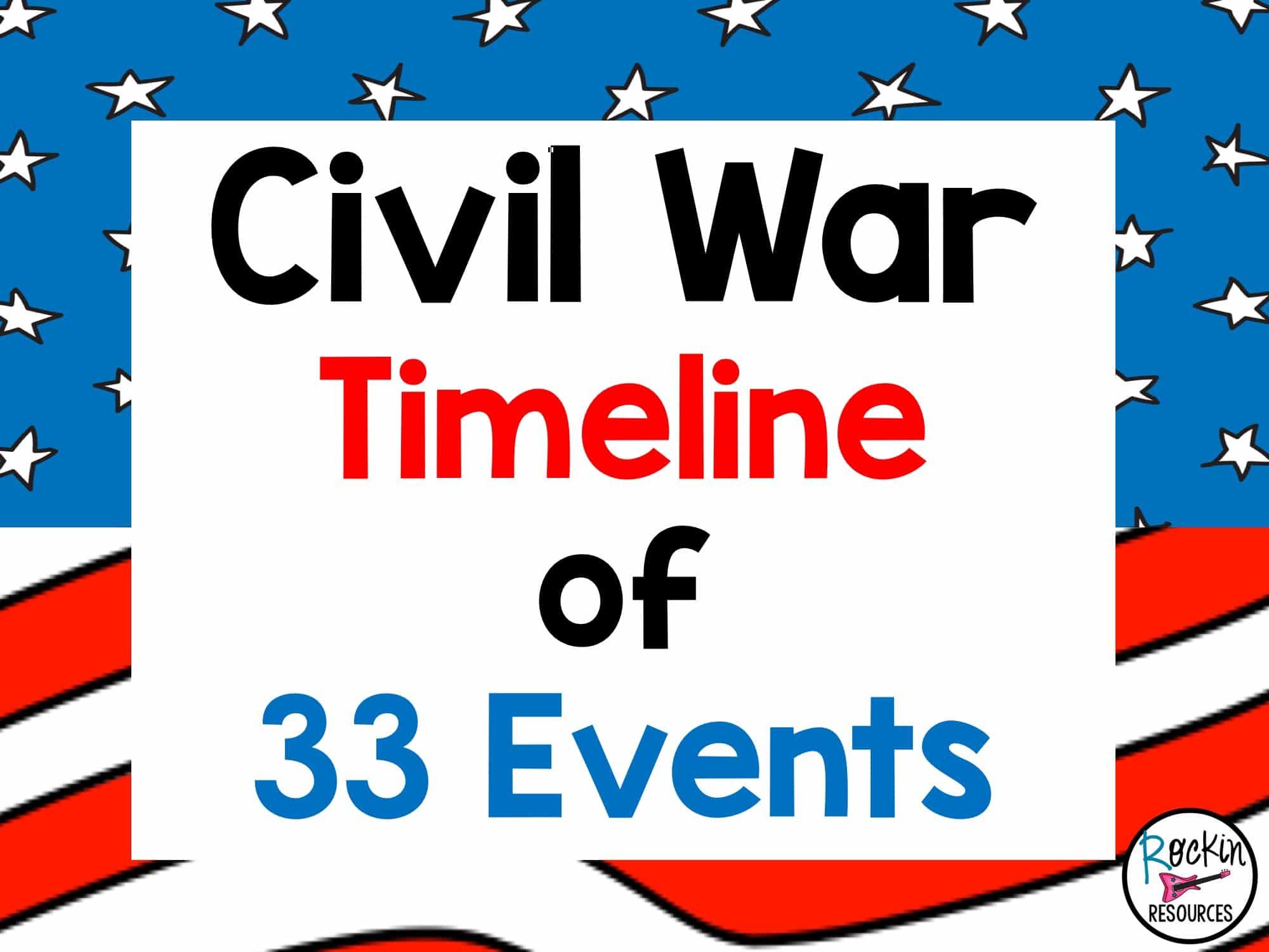 Civil War Timeline   Rockin Resources [ 1500 x 2000 Pixel ]
