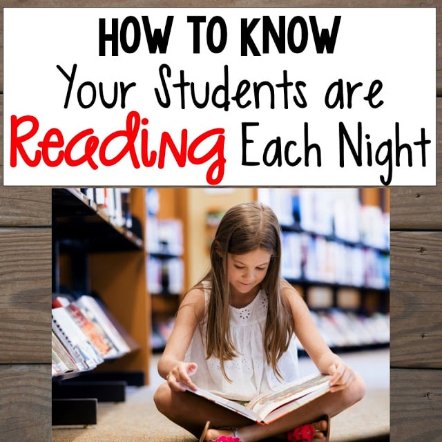 how to know students are reading at night