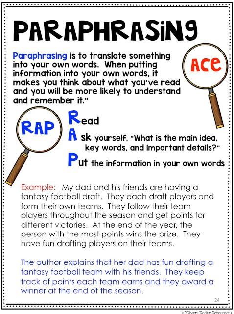 Paraphrasing RAP