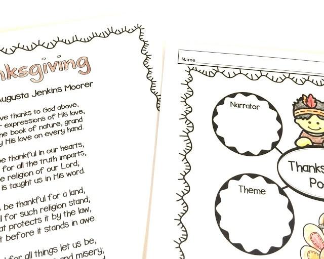 analyze a thanksgiving poem