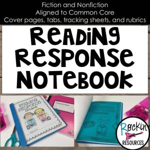 Easy Readng Response Notebook Graphic - Product