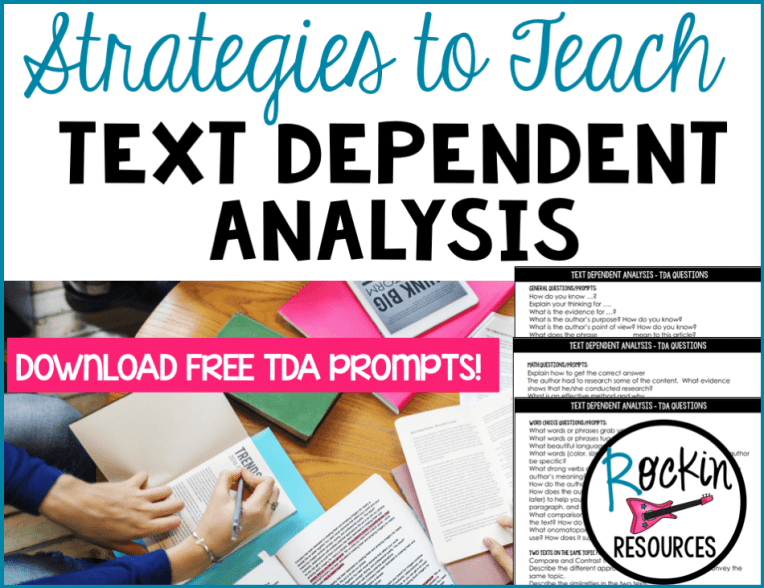 Strategies to Teach Text Dependent Analysis 1