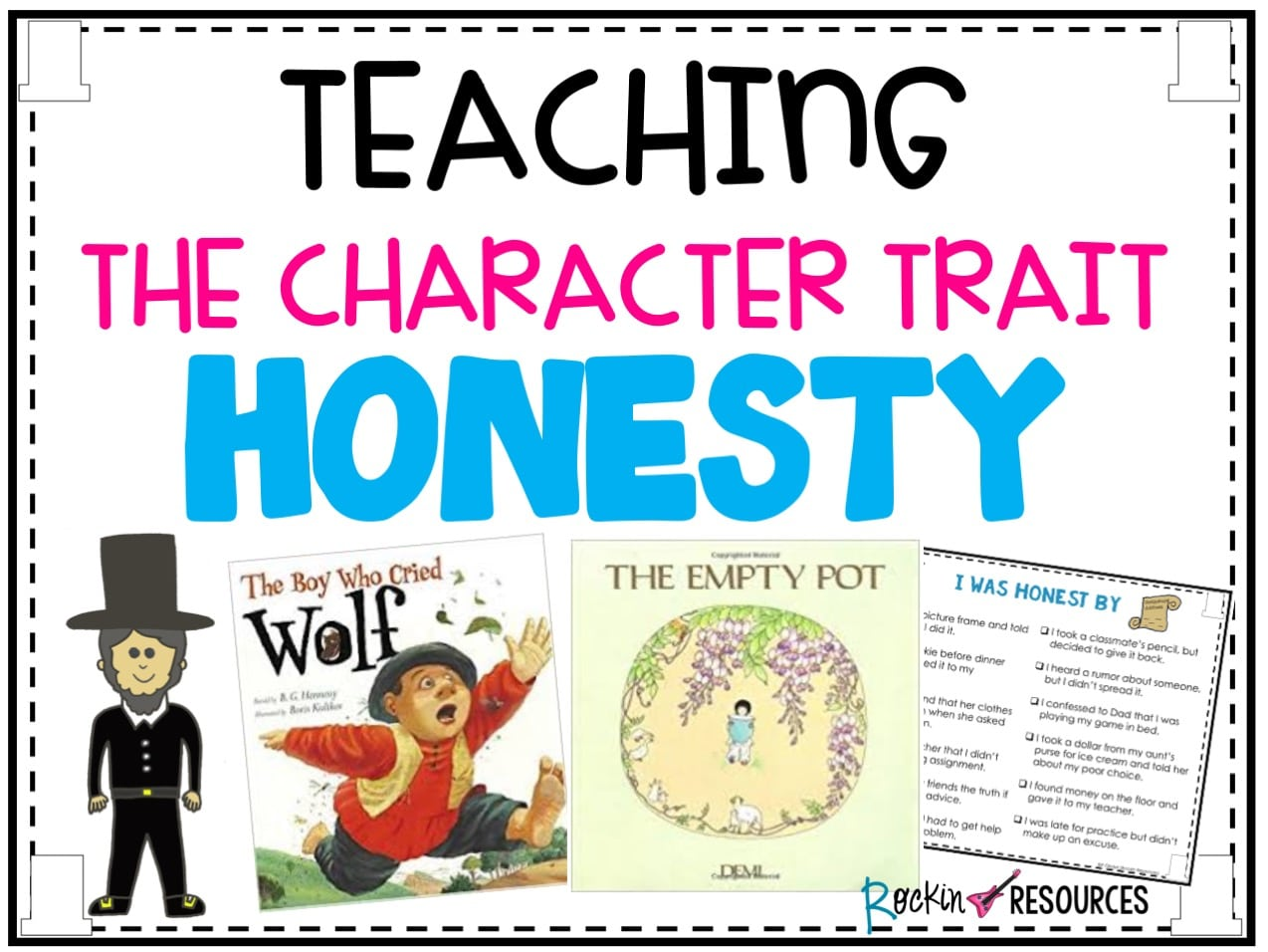 Teaching the Character Trait Honesty   Rockin Resources [ 956 x 1274 Pixel ]