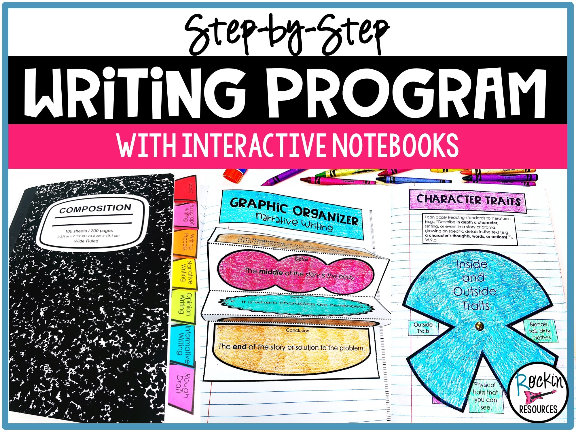 Step-by-Step Writing Program with Interactive Notebooks   Rockin Resources [ 1500 x 2000 Pixel ]