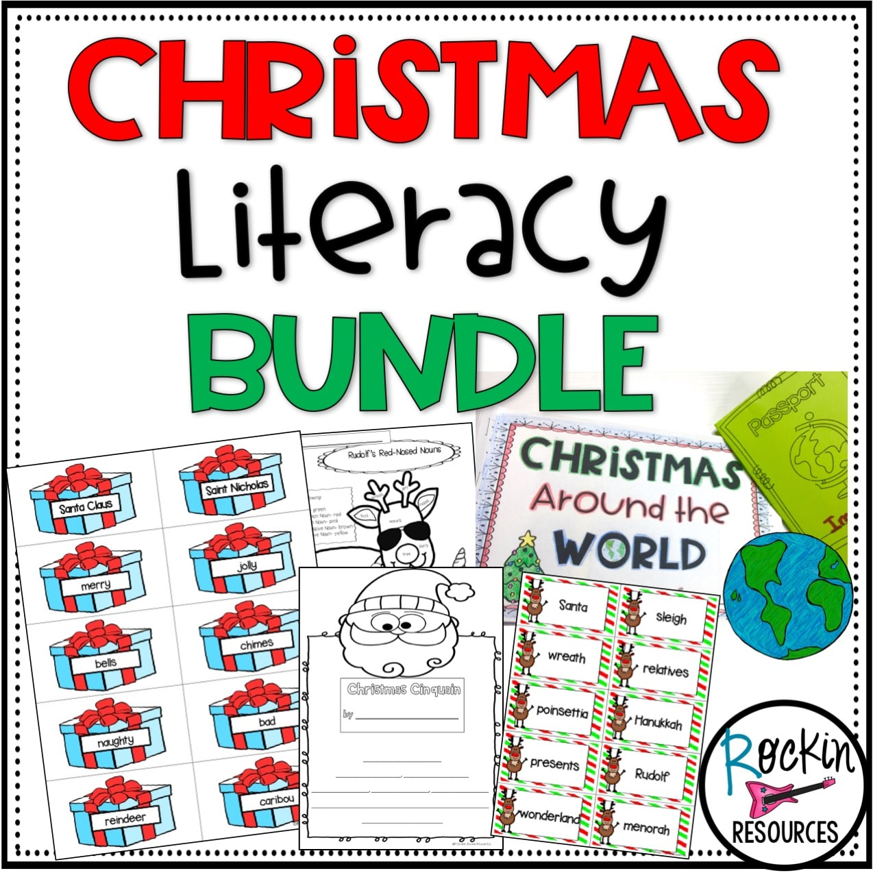 small resolution of Christmas Literacy Bundle   Rockin Resources