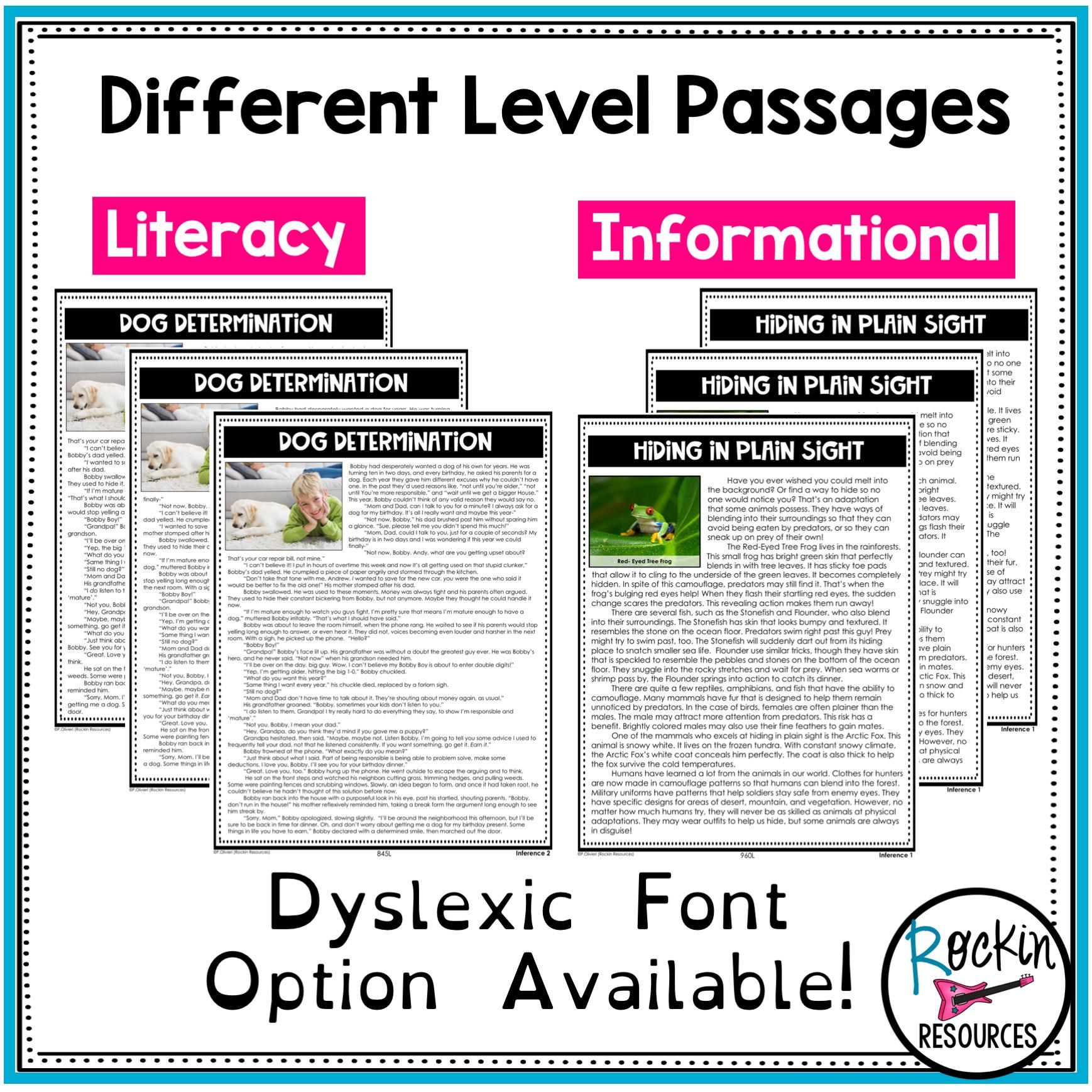 - 4th Grade Reading Comprehension Passages Bundle Rockin Resources