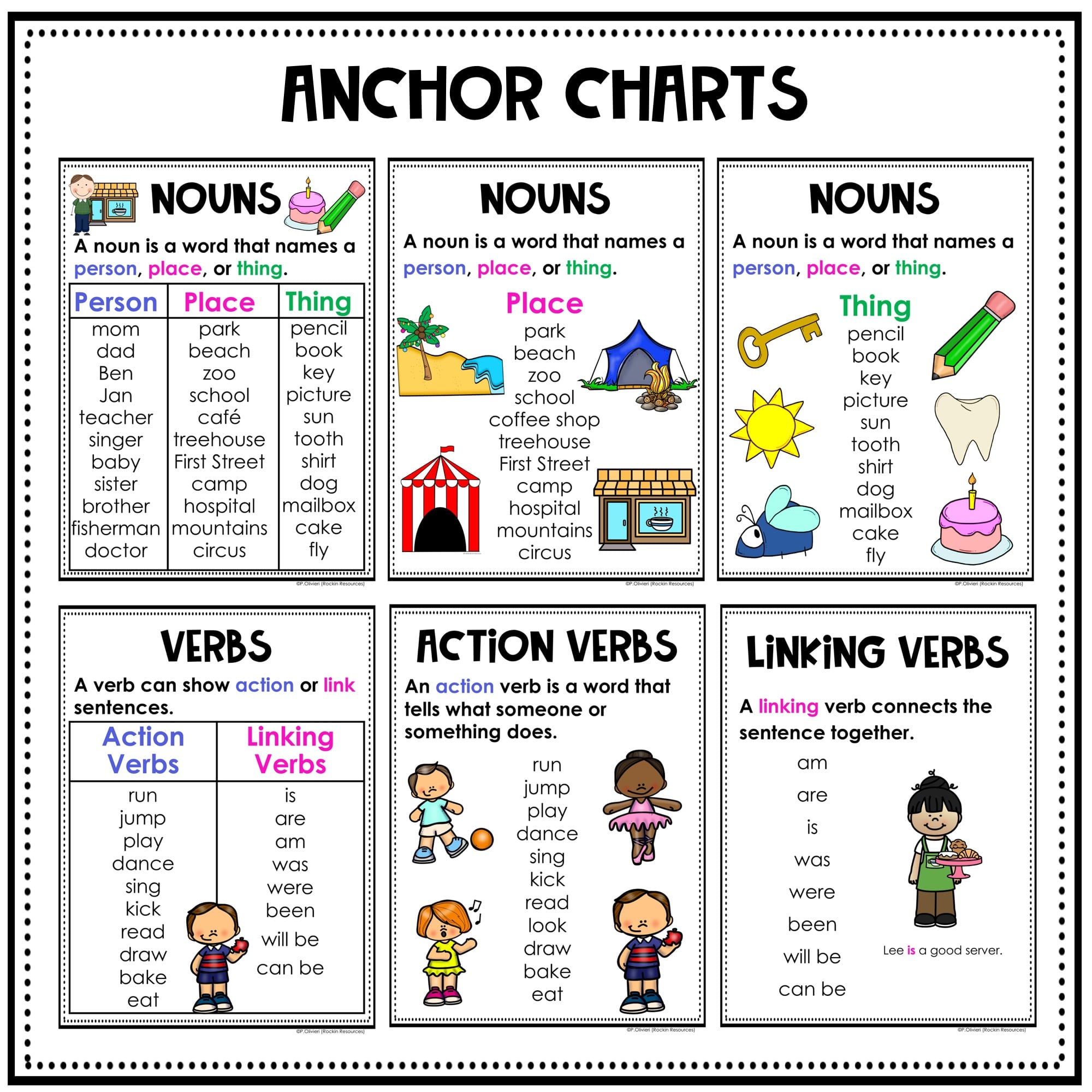 small resolution of Nouns and Verbs   Rockin Resources