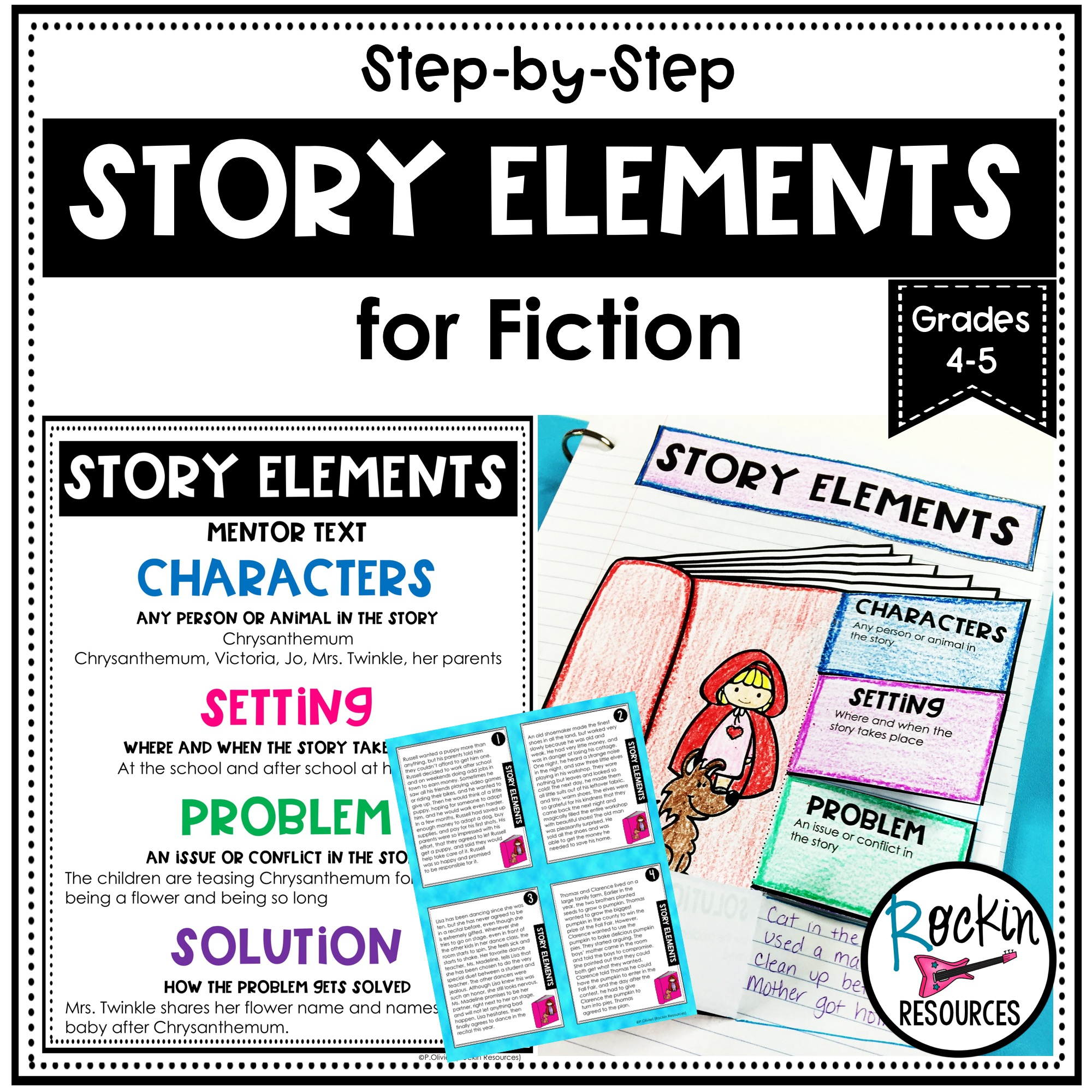 Step-by-Step Story Elements Unit for Fiction   Rockin Resources [ 2000 x 2000 Pixel ]