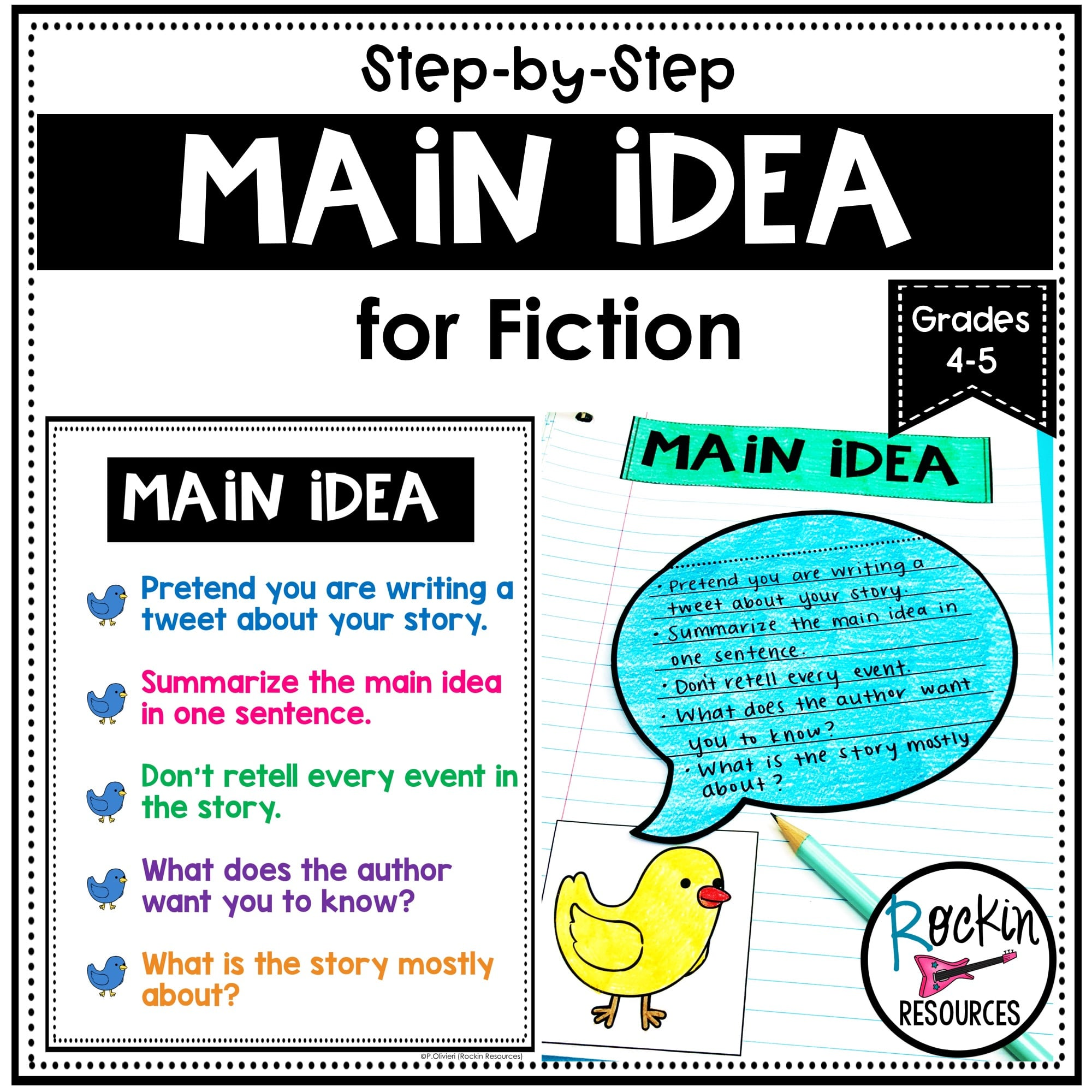 small resolution of Main Idea and Supporting Details Unit   Rockin Resources