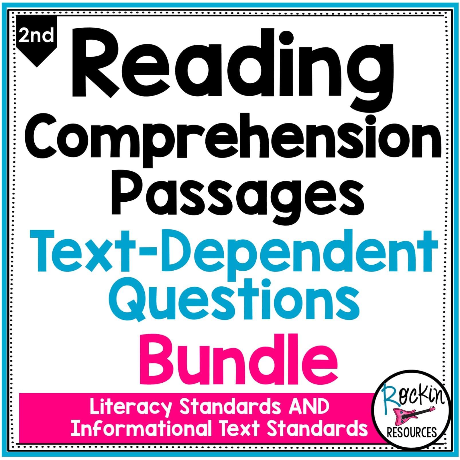 - 2nd Grade Reading Comprehension Passages Bundle Rockin Resources