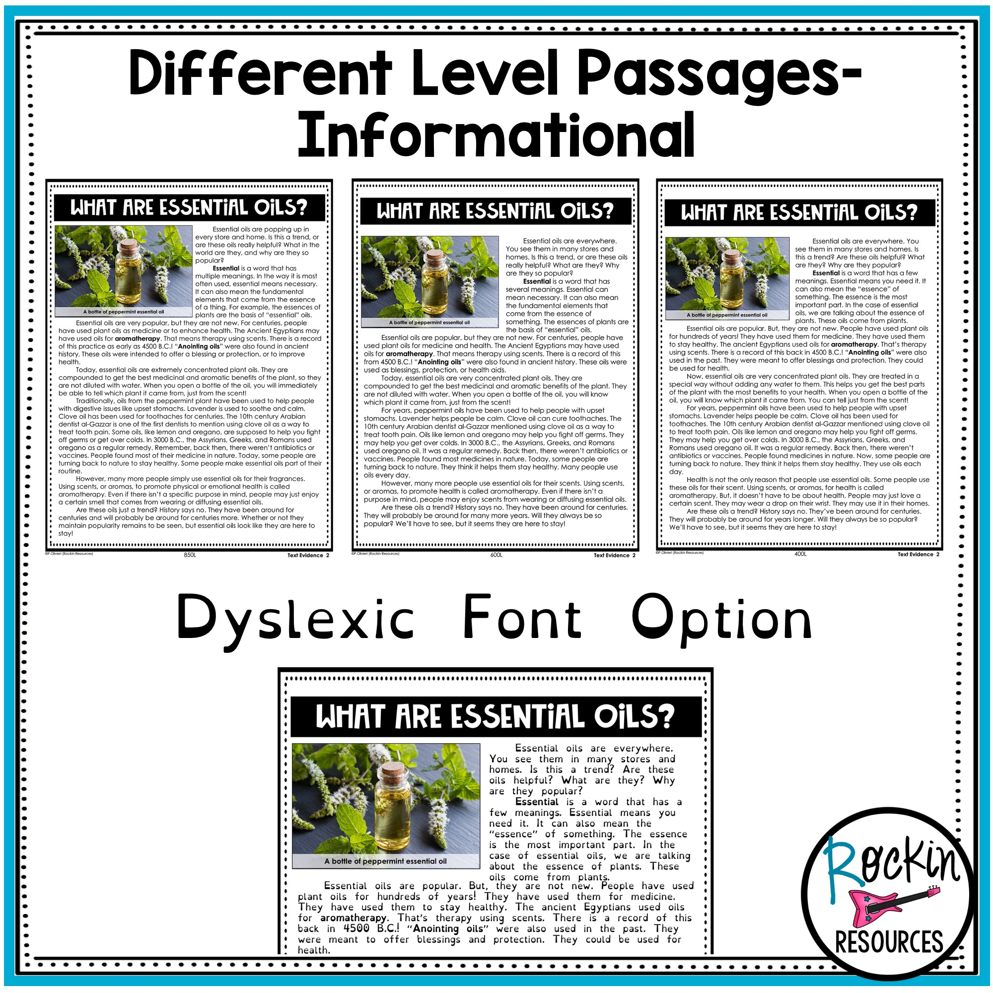 small resolution of 3rd Grade Reading Comprehension Passages Bundle   Rockin Resources