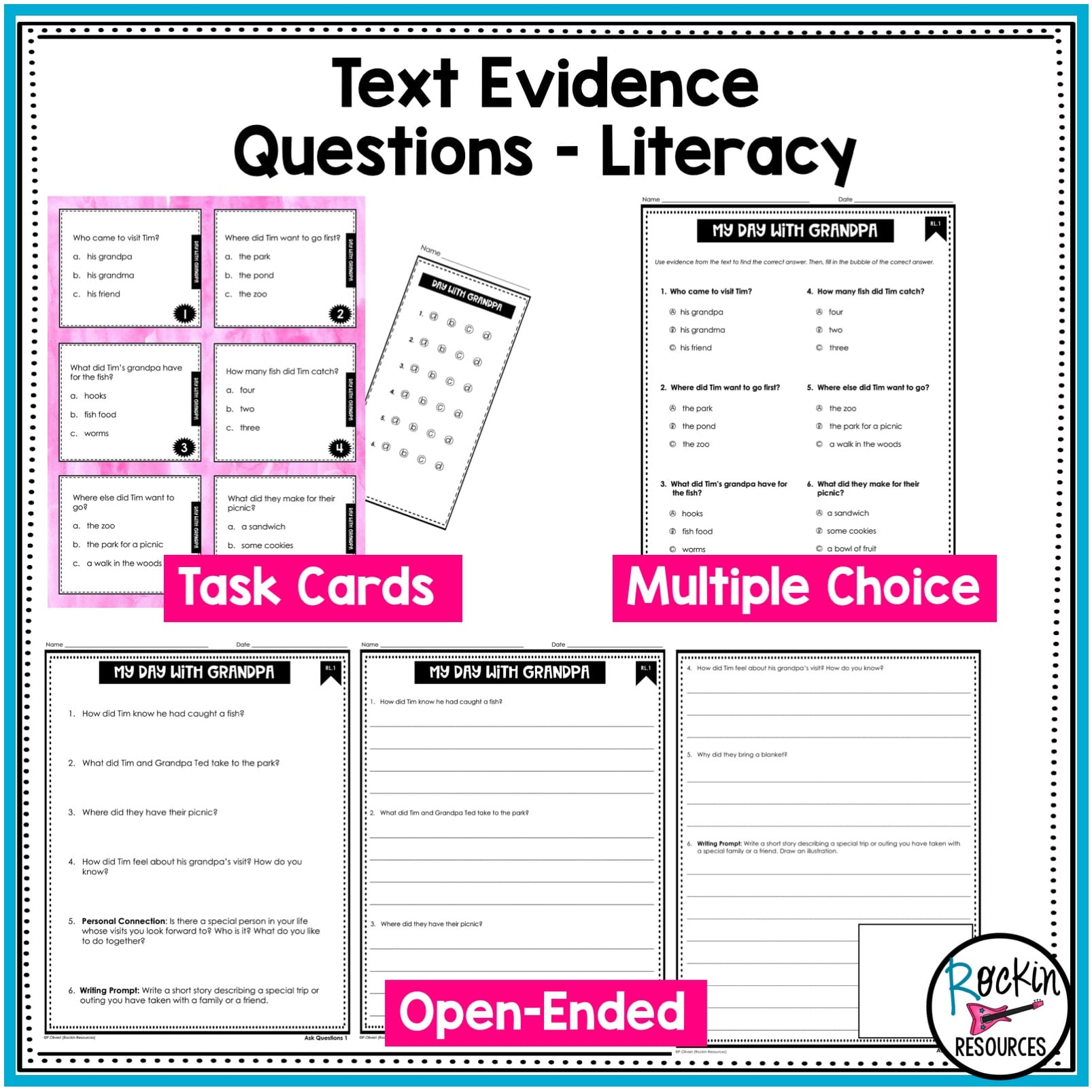 small resolution of 2nd Grade Literature Reading Comprehension Passages   Rockin Resources