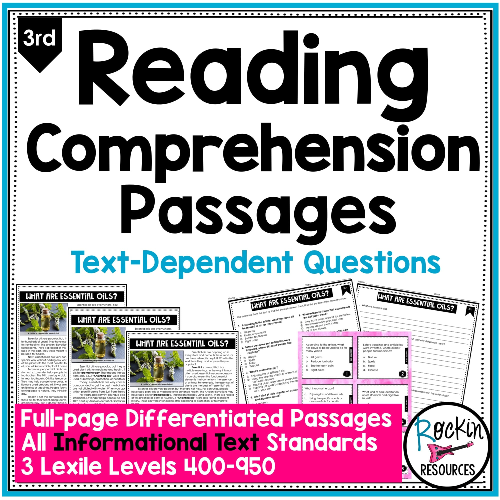 3rd Grade Informational Reading Comprehension Passages   Rockin Resources [ 2000 x 2000 Pixel ]