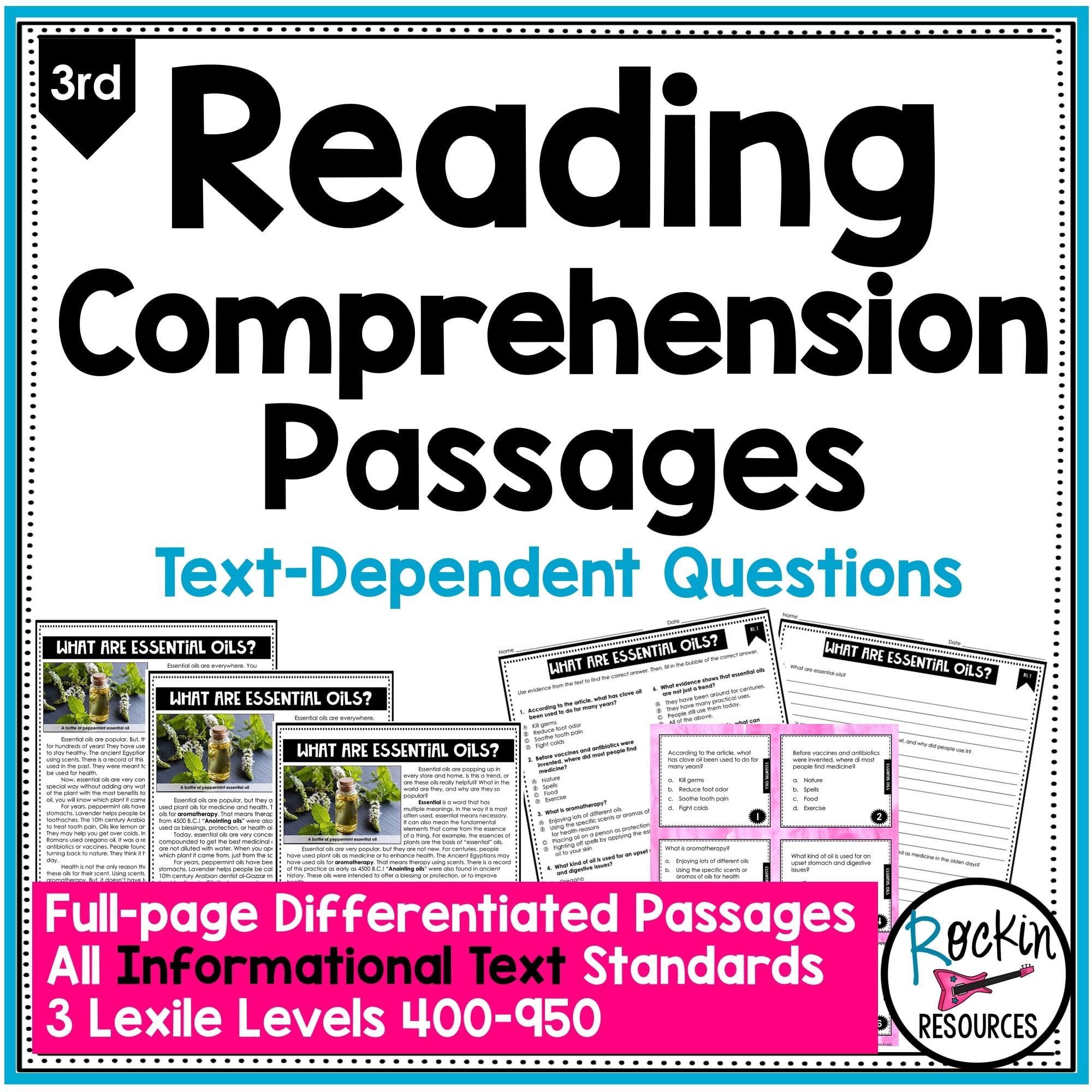 medium resolution of 3rd Grade Informational Reading Comprehension Passages   Rockin Resources