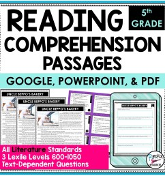 5th Grade Literature Reading Comprehension Passages   Rockin Resources [ 2000 x 2000 Pixel ]