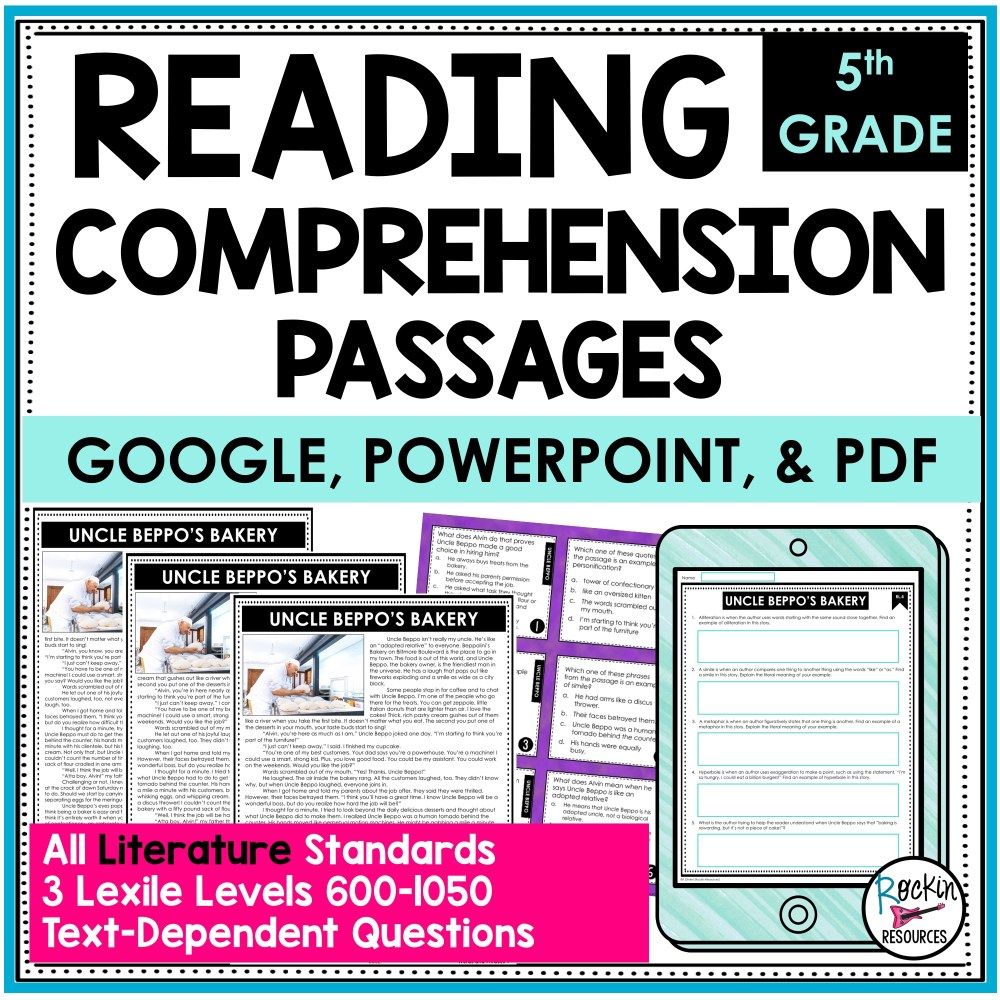 medium resolution of 5th Grade Literature Reading Comprehension Passages   Rockin Resources
