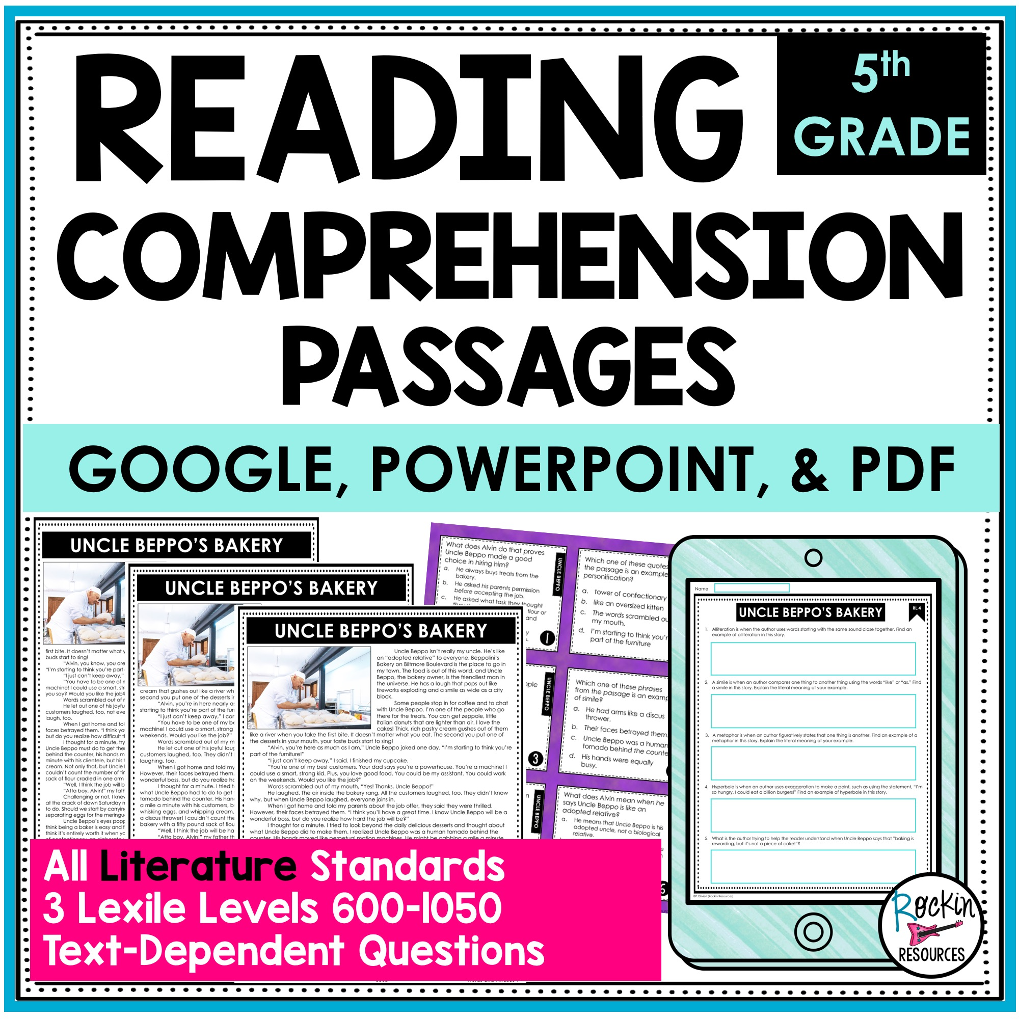 hight resolution of 5th Grade Literature Reading Comprehension Passages   Rockin Resources
