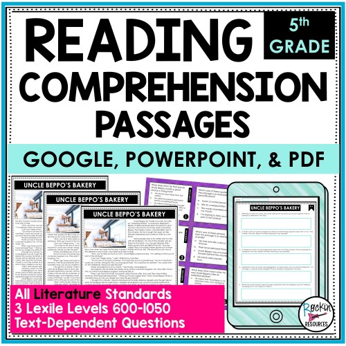 small resolution of 5th Grade Literature Reading Comprehension Passages   Rockin Resources