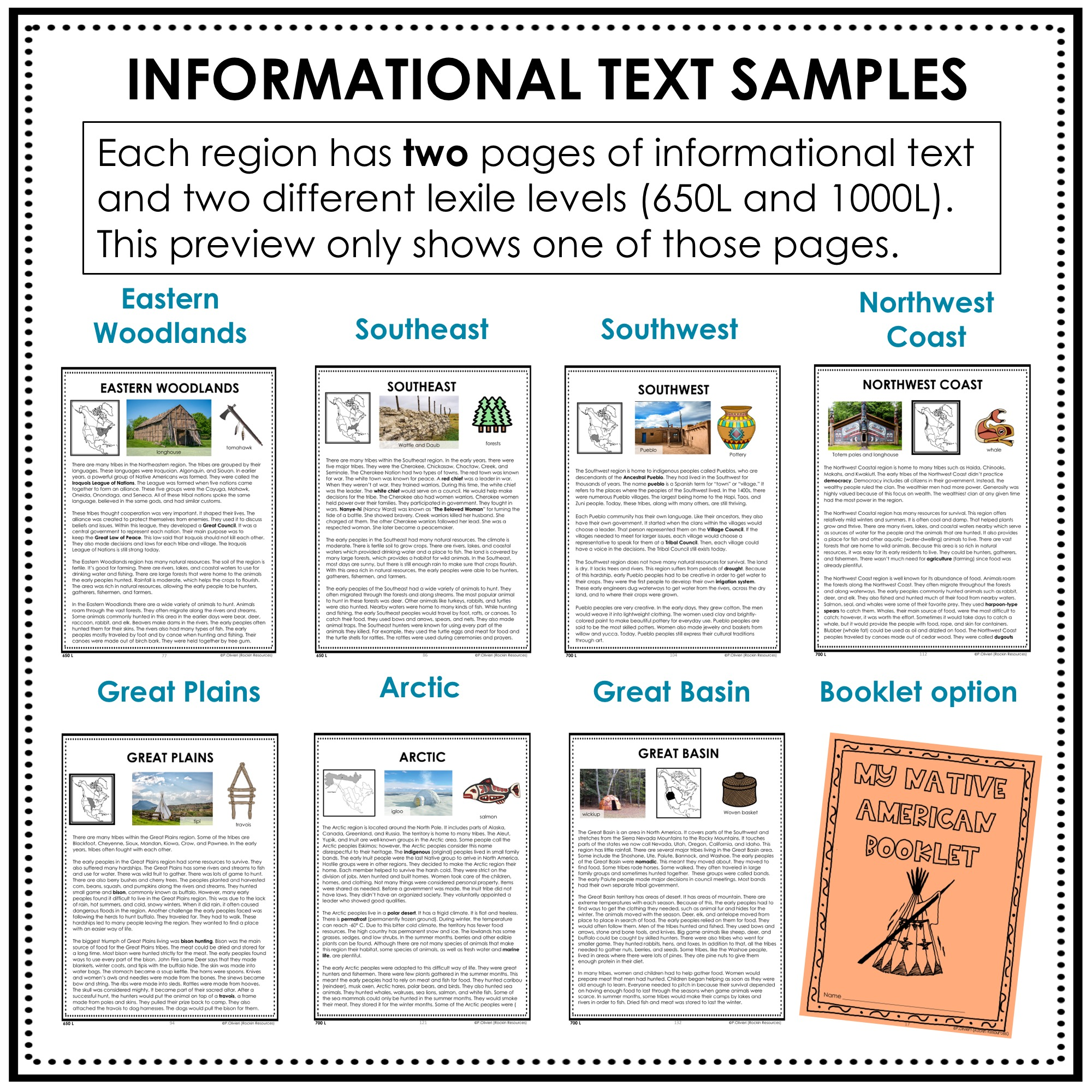 medium resolution of Native American Unit   Digital AND Print   Rockin Resources