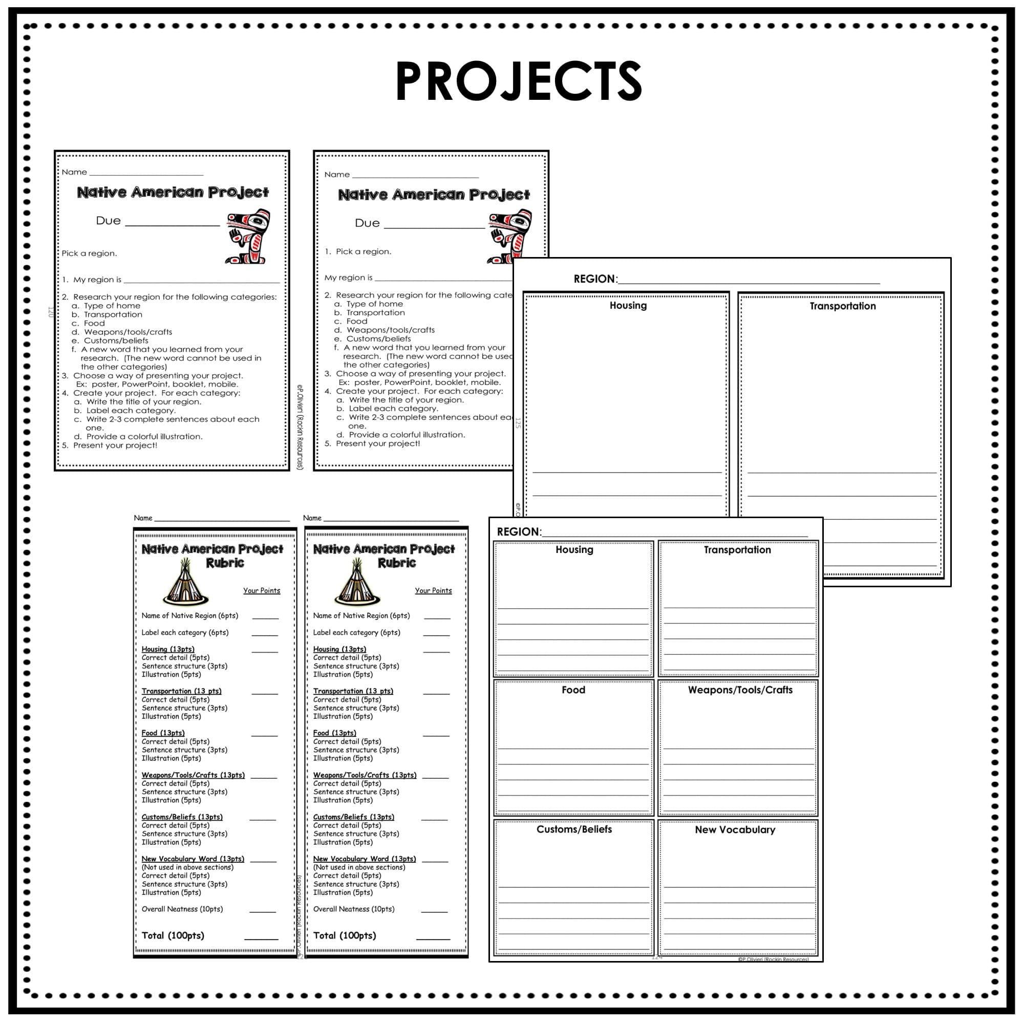 medium resolution of Native American Unit   Digital AND Print   Rockin Resources