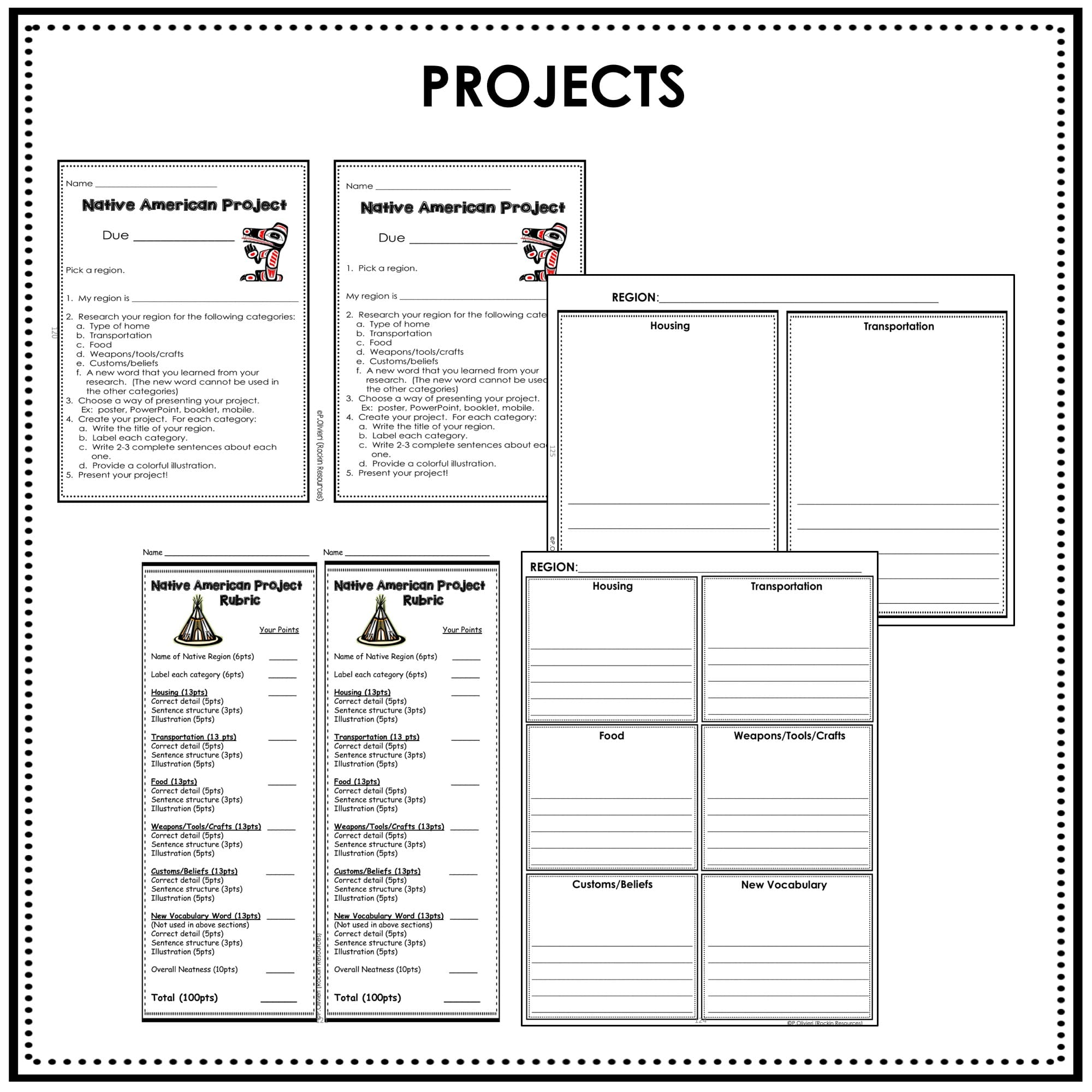 hight resolution of Native American Unit   Digital AND Print   Rockin Resources