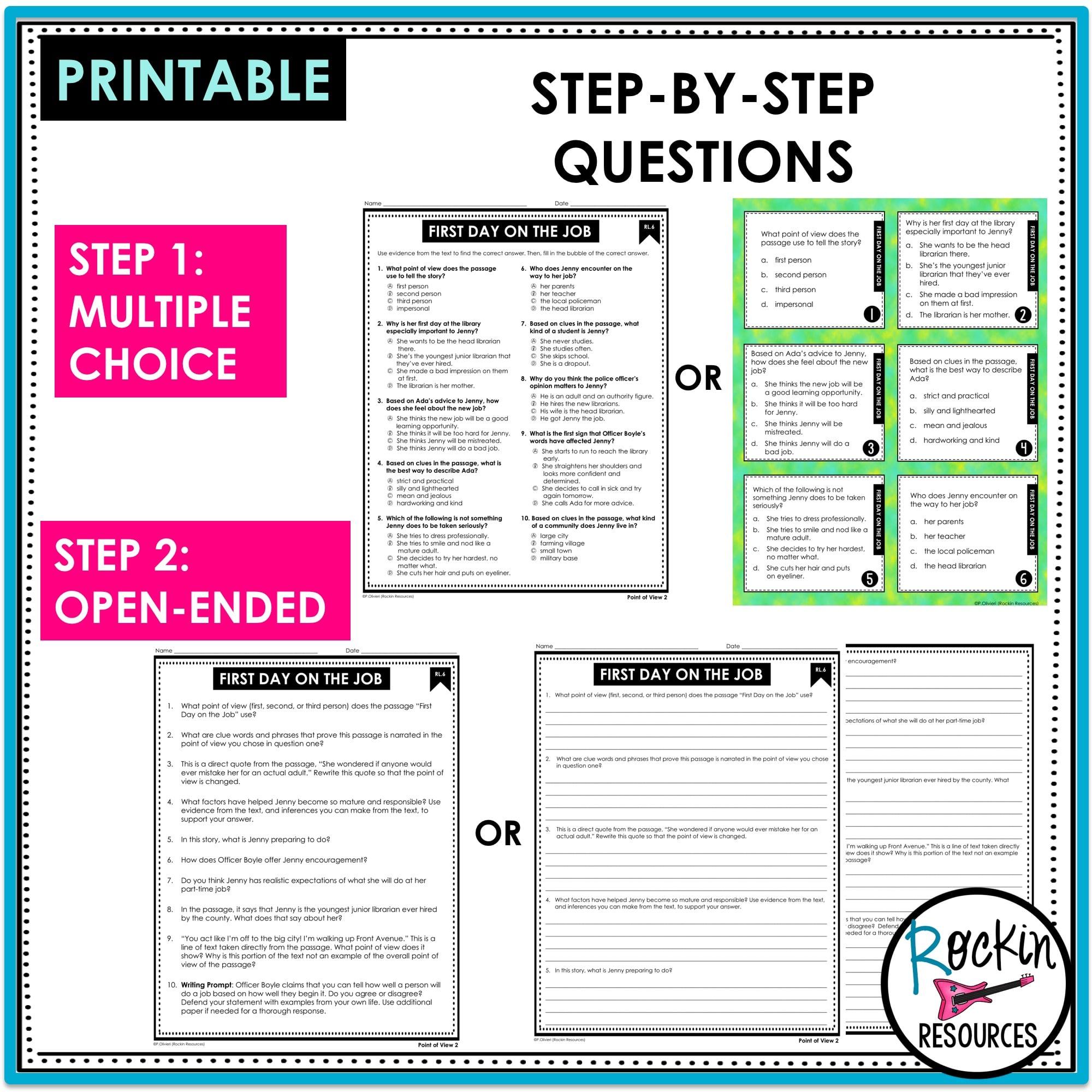 medium resolution of 4th Grade Literature Reading Comprehension Passages   Rockin Resources