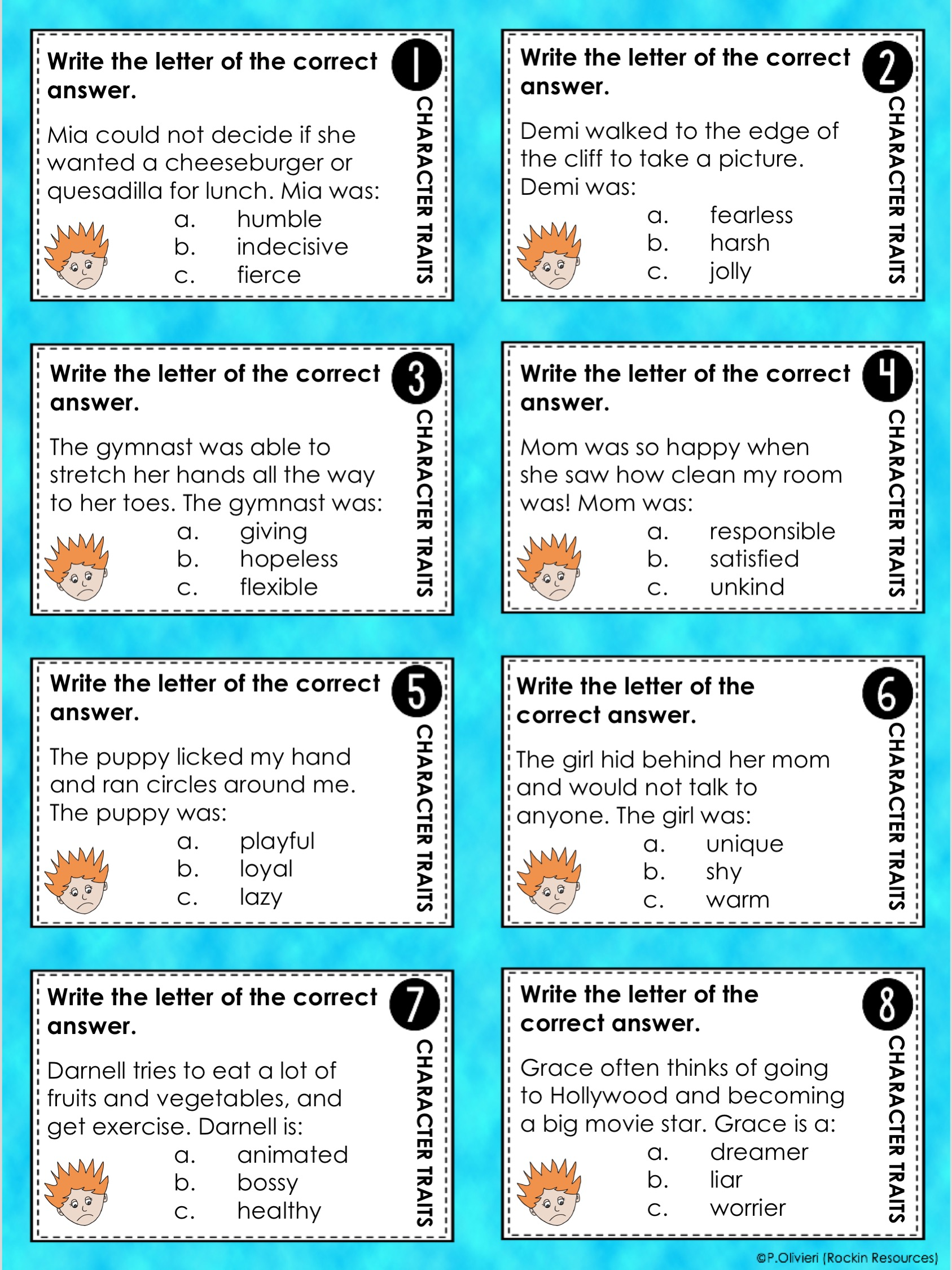 hight resolution of Writing Mini Lesson #19- Developing Characters in a Narrative Essay    Rockin Resources