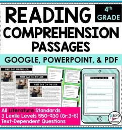 4th Grade Literature Reading Comprehension Passages   Rockin Resources [ 2000 x 2000 Pixel ]