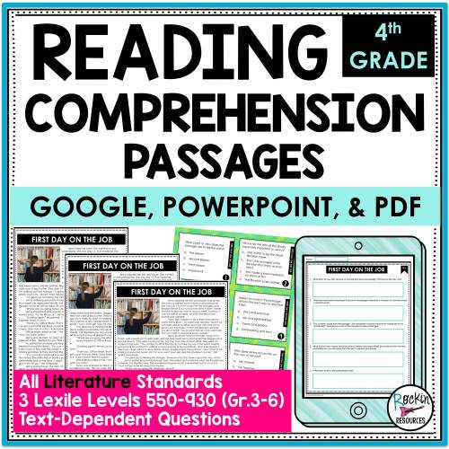 small resolution of 4th Grade Literature Reading Comprehension Passages   Rockin Resources