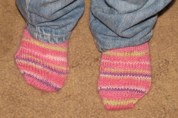 first needle knit socks