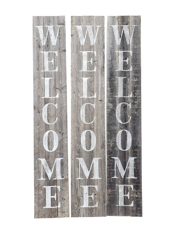 Grey-white Welcome Sign