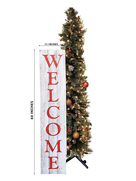 Red/White Welcome Sign