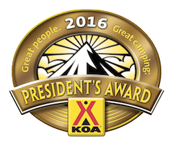 KOA Presidents Award
