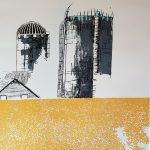 Édith Laperrière, Cliché de campagne, 2018 Sérigraphie 30 x 44 pouces Disponible : 2/3 et 3/3