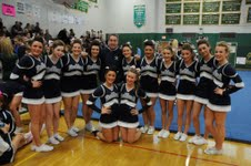 Mr. Graziano ( Athletic Director) with the Fall Cheerleading Team at the South Shore League Fall Competition held at Abington H.S on Sunday November 10,2013