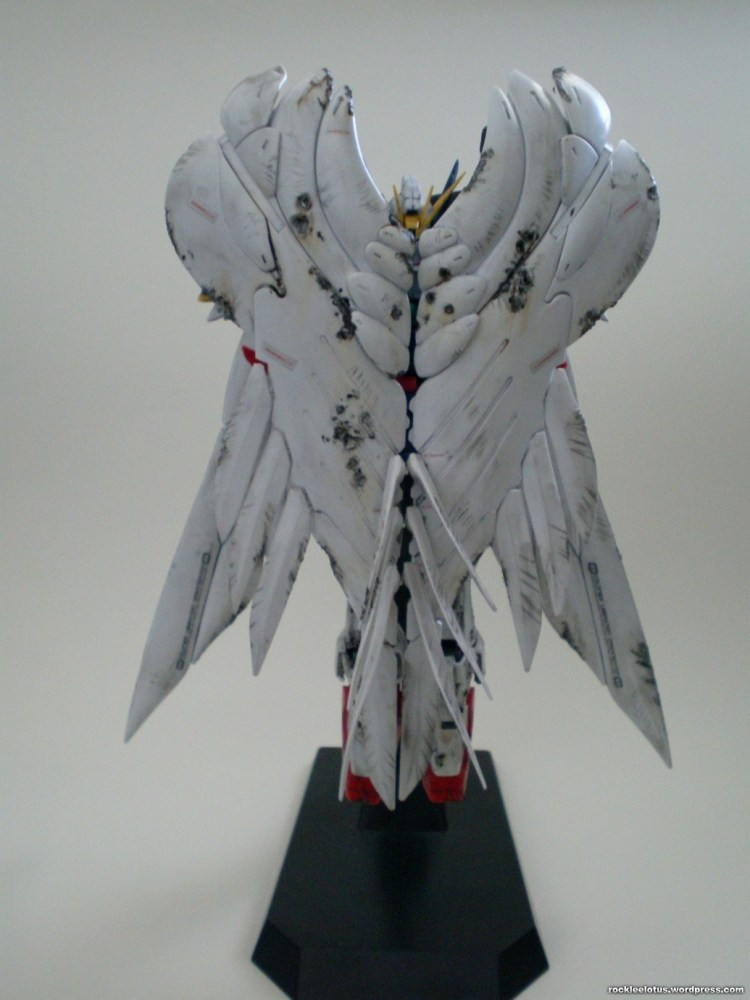 MG Wing Zero Custom WIP 06 -Damaged Wings + Test Shoot- (5/6)