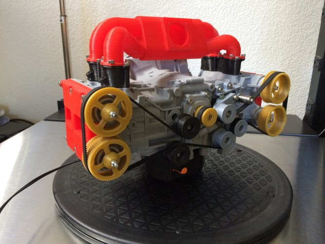 3D printed engine and transmission models