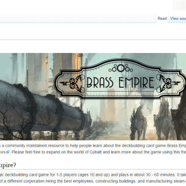 Brass Empire Website/Wiki