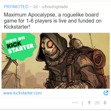 Advertising your Kickstarter on Reddit