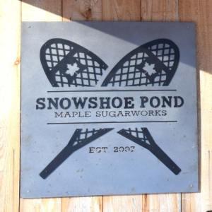 Snowshoe Pond Sign